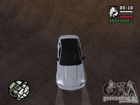 Ford Mustang GT B&W для GTA San Andreas вид сзади