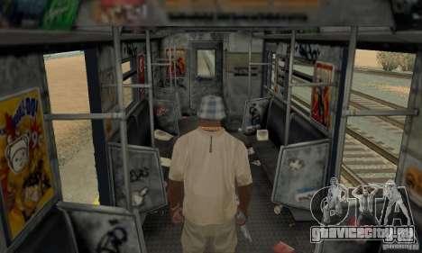 GTA IV Enterable Train для GTA San Andreas вид сверху