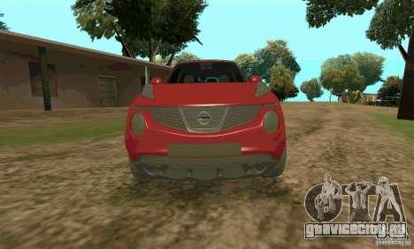Nissan Juke для GTA San Andreas вид справа