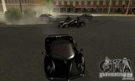 Pagani Zonda F Speed Enforcer BETA для GTA San Andreas вид изнутри
