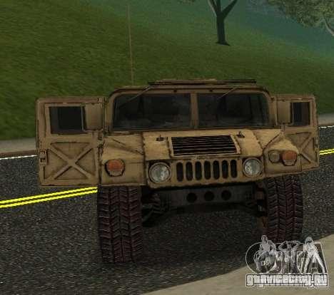 Sand Patriot HD для GTA San Andreas вид сзади слева