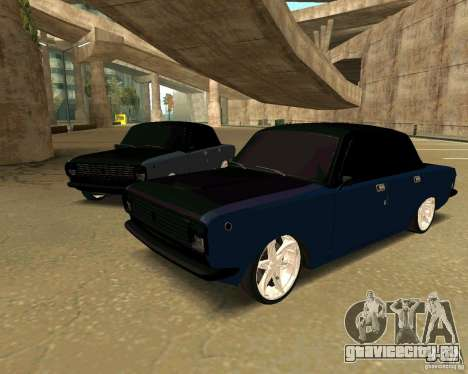 ГАЗ 24 для GTA San Andreas вид сзади слева