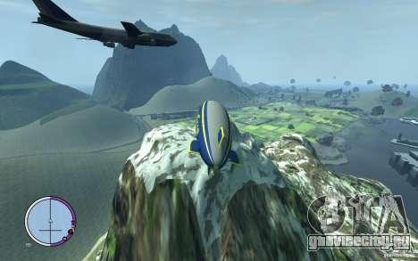Дирижабль для GTA 4 вид сзади
