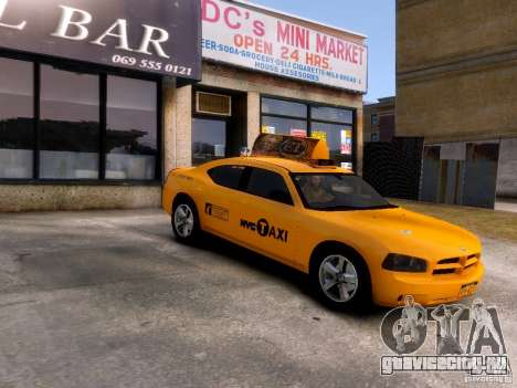 Dodge Charger NYC Taxi V.1.8 для GTA 4 вид изнутри