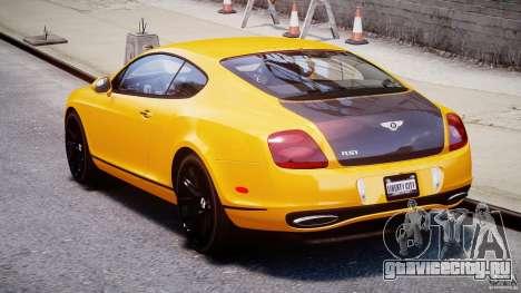 Bentley Continental SS 2010 ASI Gold [EPM] для GTA 4 вид сбоку