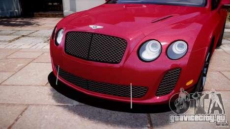 Bentley Continental SS v2.1 для GTA 4 вид сверху