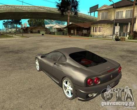 Ferrari 360 modena TUNEABLE для GTA San Andreas вид слева