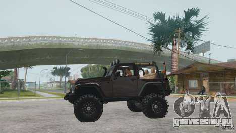 Jeep Wrangler Off road v2 для GTA San Andreas вид справа