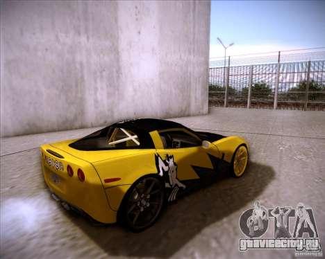 Chevrolet Corvette C6 super promotion для GTA San Andreas вид сзади слева