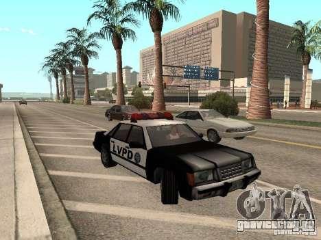 LVPD Police Car для GTA San Andreas вид слева