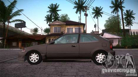 Honda Civic Tuneable для GTA San Andreas вид сверху