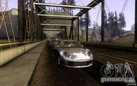 Ruf RK Coupe V1.0 2006 для GTA San Andreas вид сзади слева