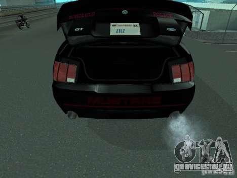 Ford Mustang GT Police для GTA San Andreas вид сзади