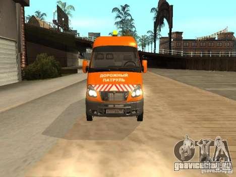 ГАЗель 2705 дорожный патруль для GTA San Andreas вид сзади слева