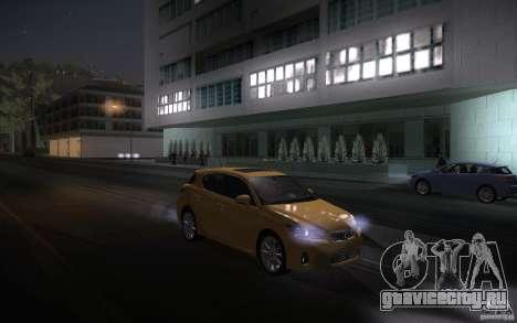 Lexus CT200H 2011 для GTA San Andreas вид изнутри