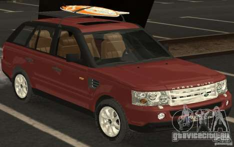 Land Rover Range Rover 2007 для GTA San Andreas вид сзади слева