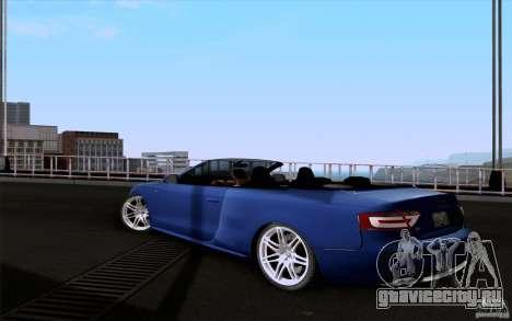 Audi S5 Cabriolet 2010 для GTA San Andreas вид слева