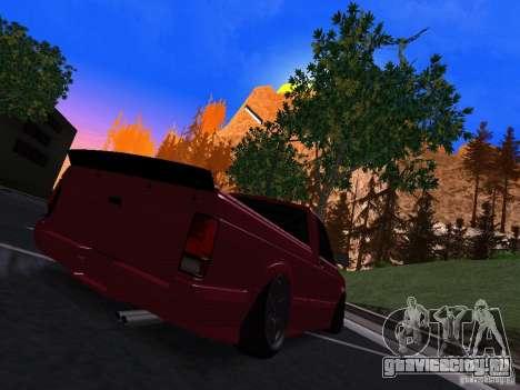 GMC Syclone Drift для GTA San Andreas вид сзади слева