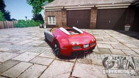 Bugatti Veyron Grand Sport [EPM] 2009 для GTA 4 вид изнутри