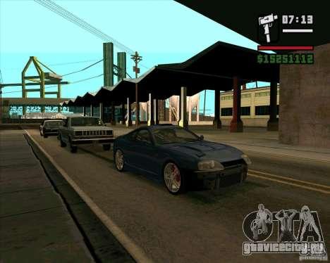 Toyota Supra MK4 tunable для GTA San Andreas вид сзади слева