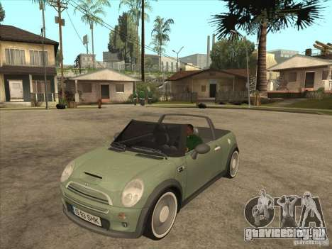 Mini Cooper S Cabrio для GTA San Andreas вид слева