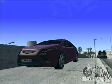 Opel Ampera 2012 для GTA San Andreas вид изнутри