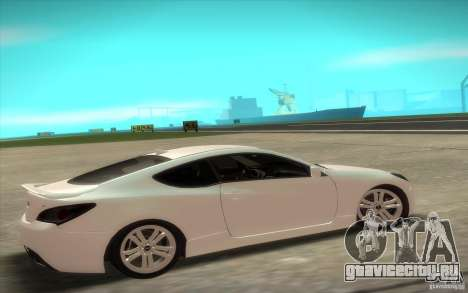 Hyundai Genesis 3.8 Coupe для GTA San Andreas вид сзади слева