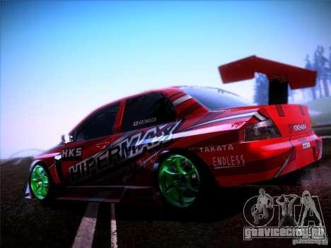 Mitsubishi Lancer Evolution 9 Hypermax для GTA San Andreas вид слева