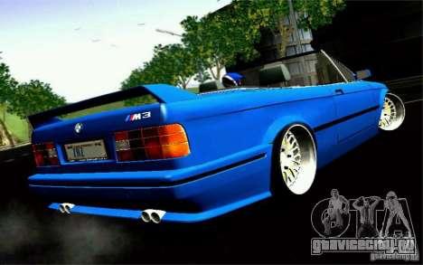BMW E30 M3 Cabrio для GTA San Andreas вид слева