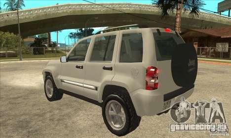 Jeep Liberty 2007 Final для GTA San Andreas вид сзади слева