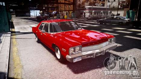 Dodge Monaco 1974 stok rims для GTA 4 вид сзади