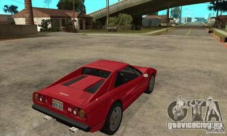 Ferrari 308 GTS Quattrovalvole для GTA San Andreas вид справа