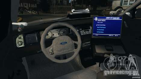 Ford Crown Victoria Police Unit [ELS] для GTA 4 вид сзади
