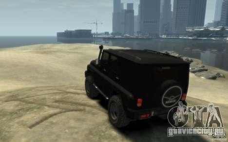 UAZ Hunter final для GTA 4 вид сзади слева