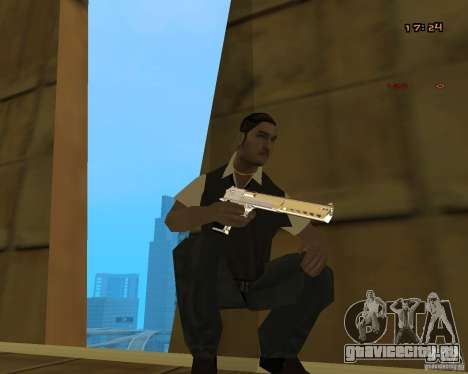 Chrome Desert Eagle для GTA San Andreas