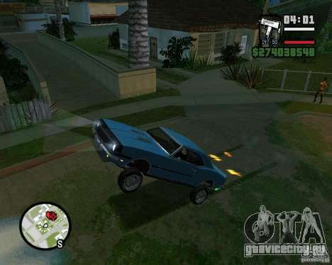 Возможность поднять машину на дыбы для GTA San Andreas пятый скриншот