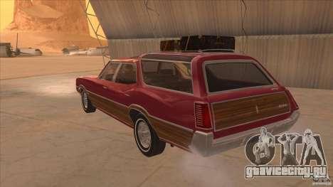 Oldsmobile Vista Cruiser 1972 для GTA San Andreas вид сзади слева
