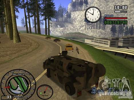 Australian Bushmaster для GTA San Andreas вид сзади
