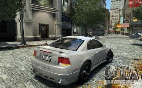 Ford Mustang Cobra R для GTA 4 вид справа