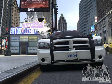 Dodge Charger NYPD для GTA 4 вид слева