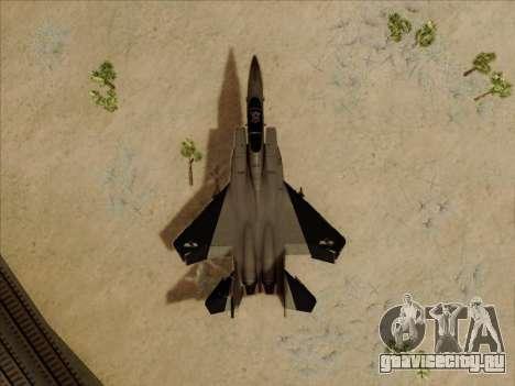 F-15C для GTA San Andreas вид изнутри