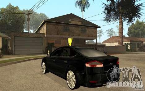 Ford Mondeo 2009 для GTA San Andreas вид сзади слева