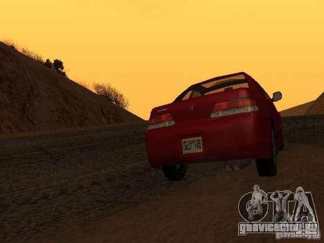 Honda Prelude Sport для GTA San Andreas вид сзади слева