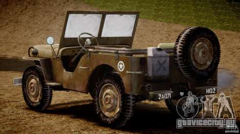 Jeep Willys [Final] для GTA 4 вид справа