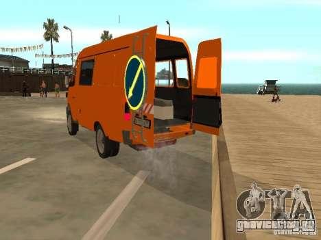 ГАЗель 2705 дорожный патруль для GTA San Andreas вид справа