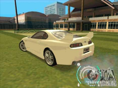 Toyota Supra from 2 Fast 2 Furious для GTA San Andreas вид справа