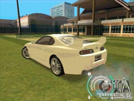 Toyota Supra from 2 Fast 2 Furious для GTA San Andreas вид справа