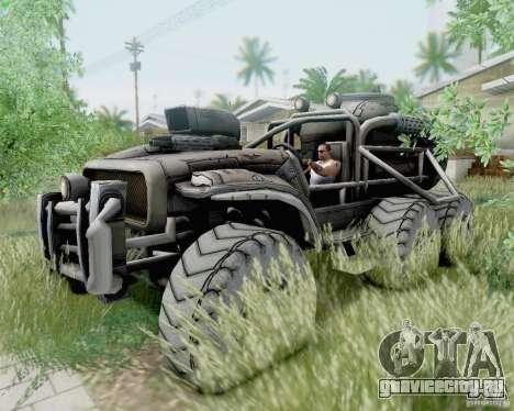 Cheta Paw из Borderlands для GTA San Andreas вид сзади