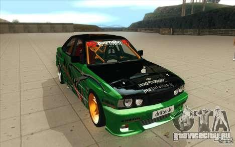 BMW E34 V8 Wide Body для GTA San Andreas вид сзади