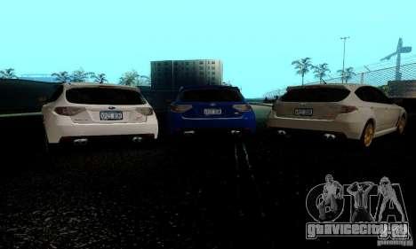 2008 Subaru Impreza Tuneable для GTA San Andreas вид сзади слева